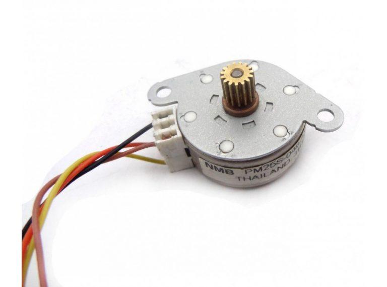 استپ موتور 2 فاز 7.5 درجه مارک NMB تایلند مدل PM25S-048-AXE5