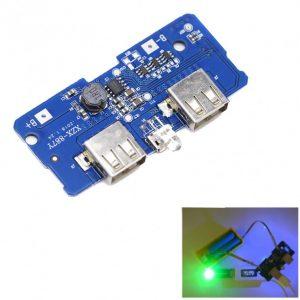 ماژول ساخت پاوربانک دارای دو خروجی 5V 1A , 2A USB