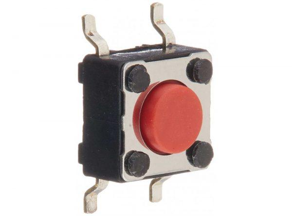 تک سوئیچ 4 پایه 6x6x3.1 SMD قرمز
