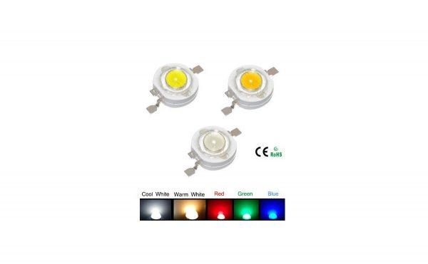 3W LED سفید مهتابی 240 - 220 لومن