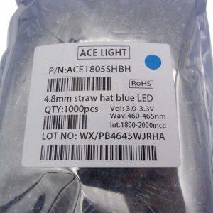 LED کلاهی آبی مارک ACE LIGHT