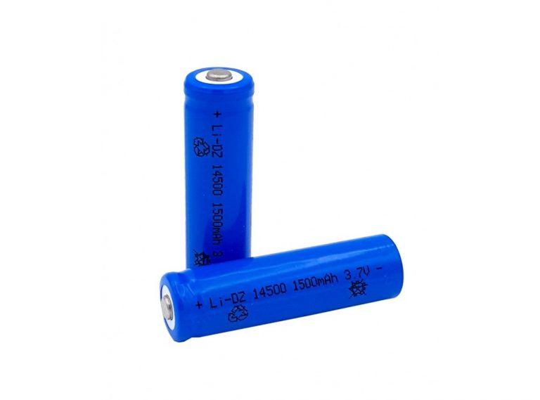 باتری لیتیوم یون 3.7V سایز 14500 همسایز باتری قلمی