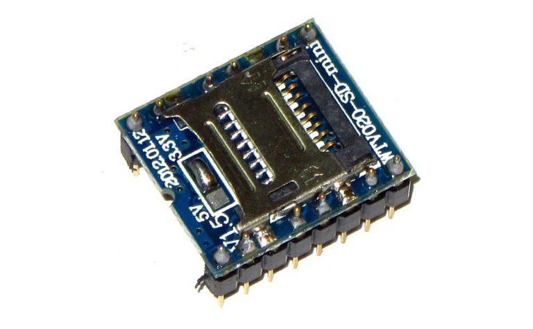 ماژول WTV020-SD جهت بخش فایل های صوتی