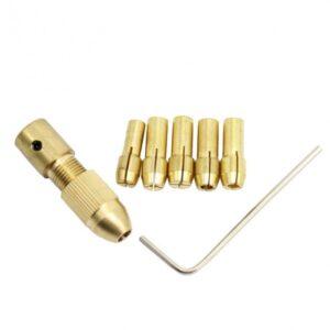 ست سه نظام پنج سر با قطر شافت 3.17mm و سایز مته 0.8 تا 3mm