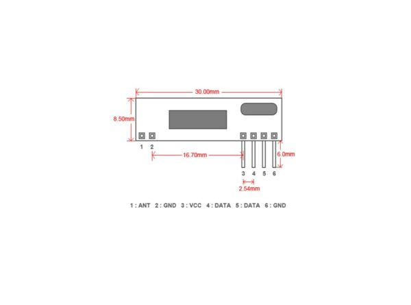 گیرنده ریموت ASK 433MHz سوپرهترودین مدل RXB12